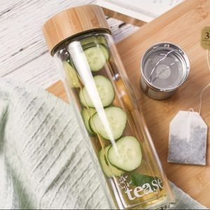 NWT! - 3 in 1 Sustainable Glass and Bamboo Tumbler